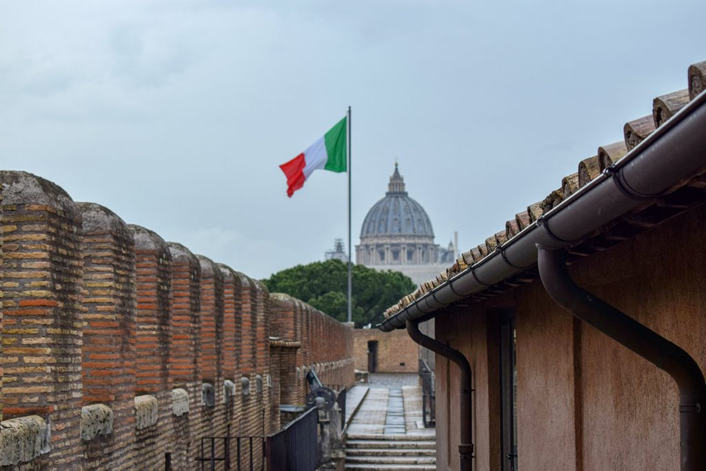 Vatican City Overview From The Sant'Angelo Castle Italy