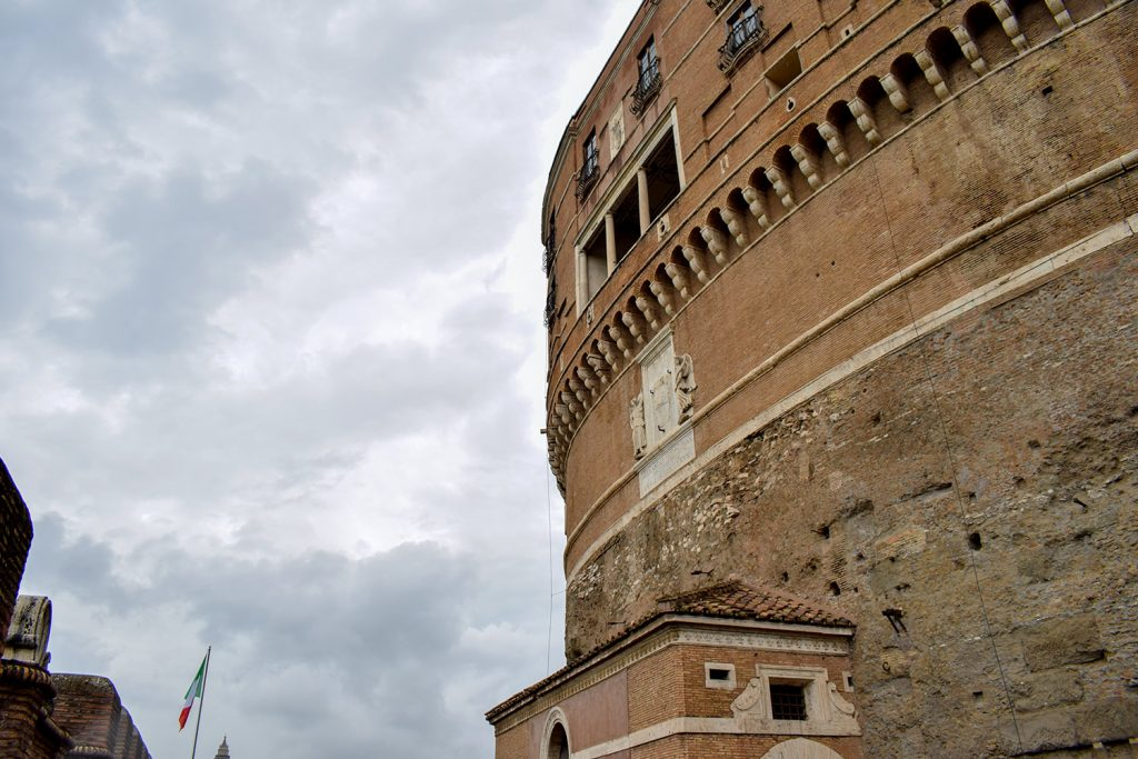 Outside overview of Sant'Angelo Castle Italy