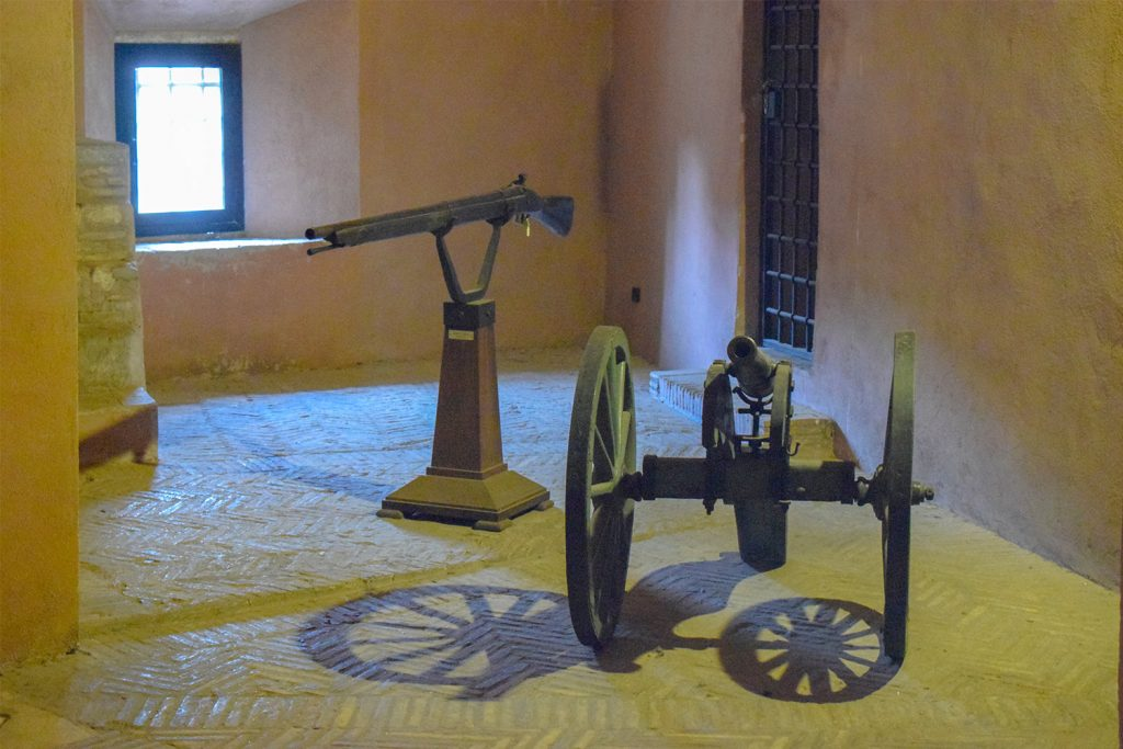 Roman guns at the museum of Sant'Angelo Castle Italy