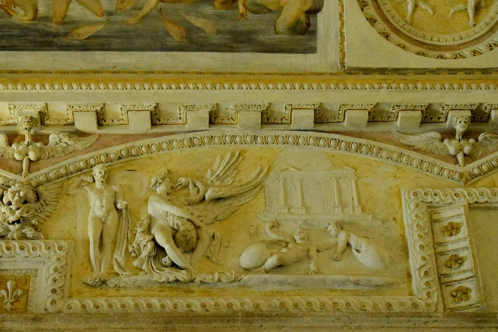An art on the wall of Sant'Angelo Castle Italy