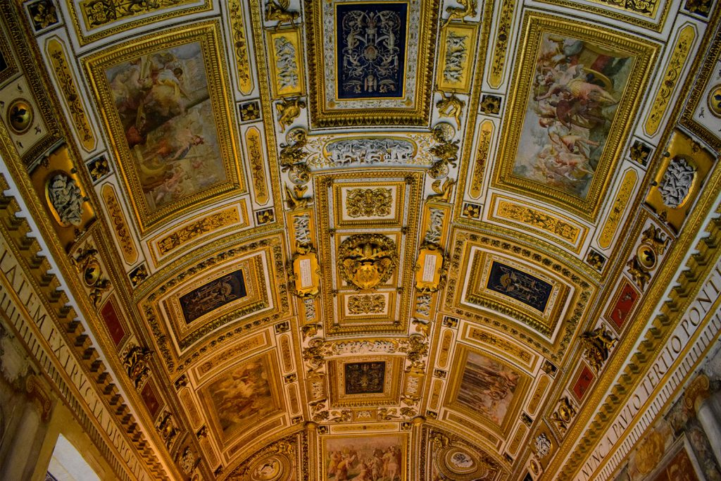 A ceiling from the Sant'Angelo Castle Italy