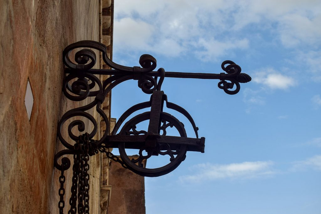 The shape of the iron at Sant'Angelo Castle Italy