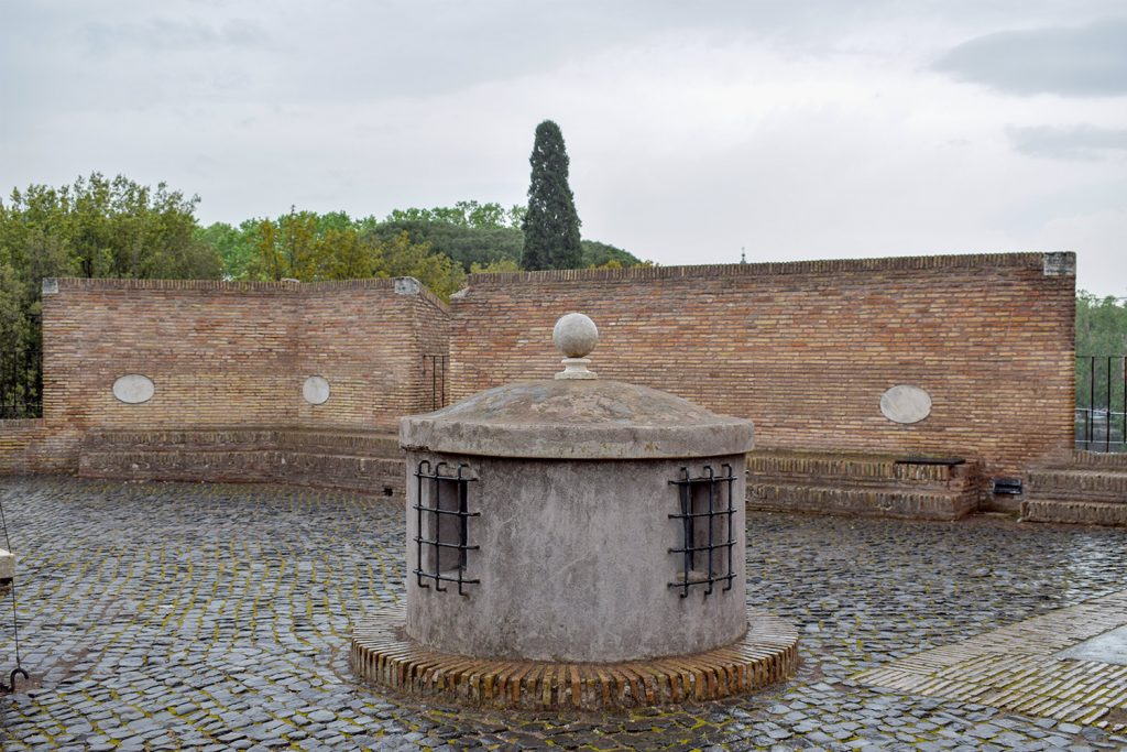A square from the Sant'Angelo Castle Italy