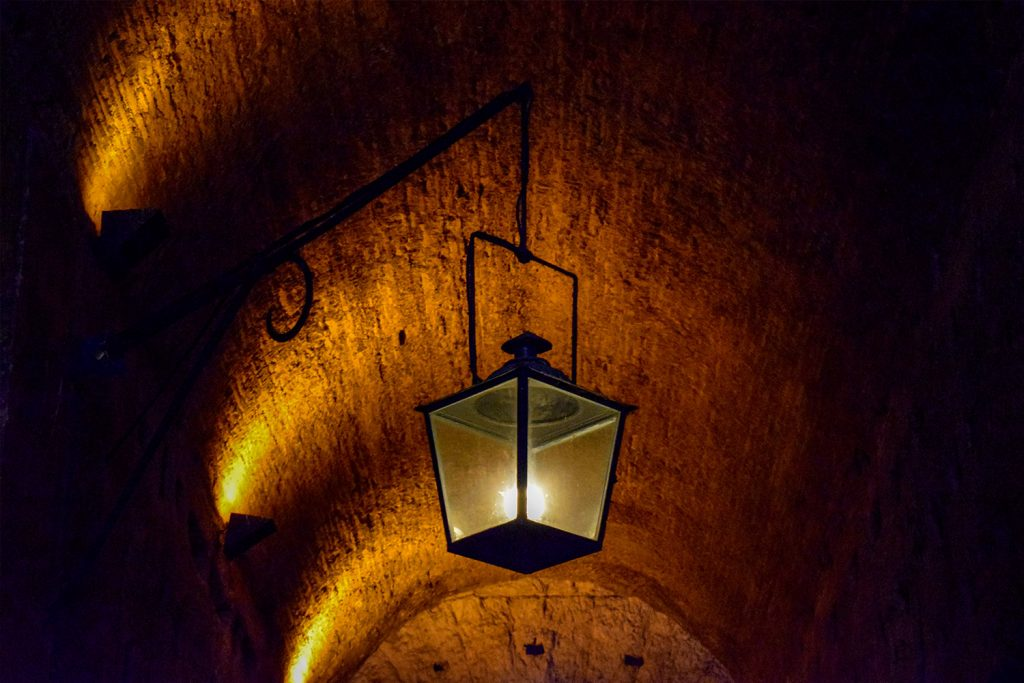 Antique Roman lamp at Sant'Angelo Castle Italy