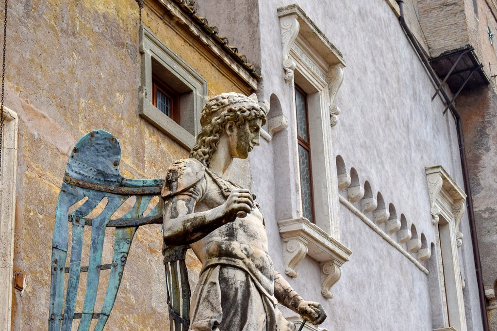 Angel statue of Sant'Angelo Castle Italy