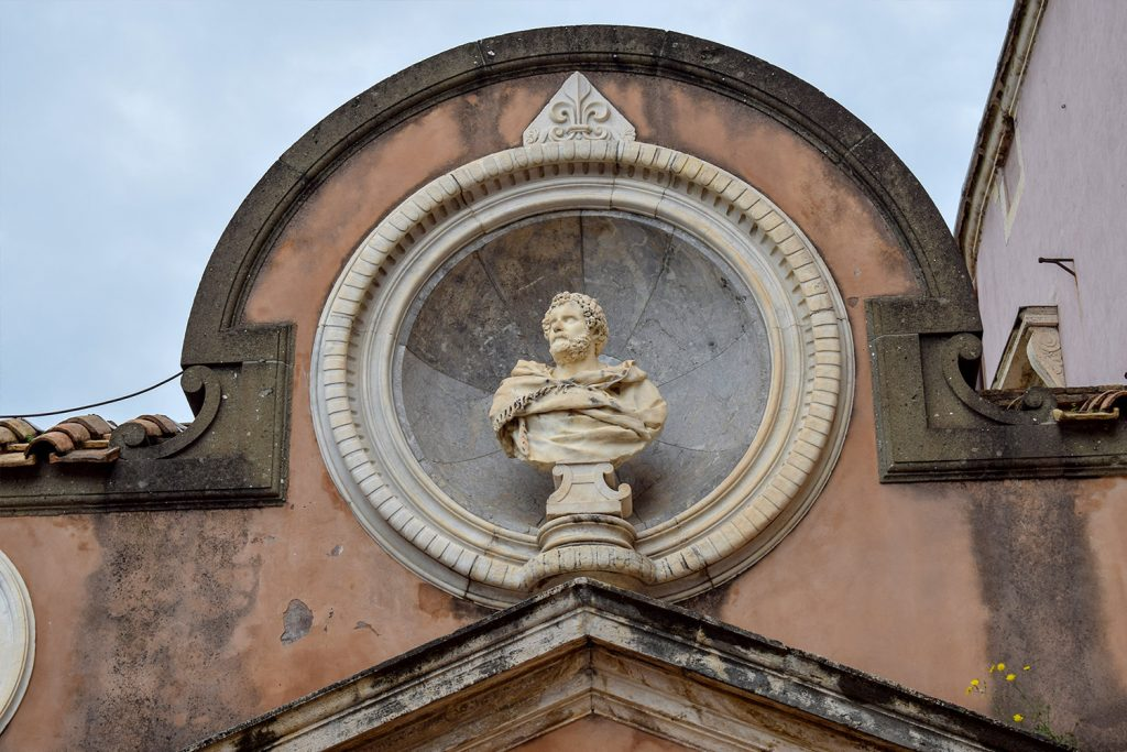 Classical sculpture at the Sant'Angelo Castle Italy