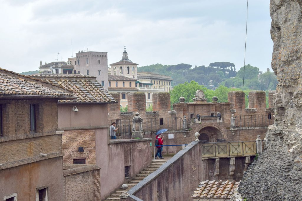 Inside view of Sant'Angelo Castle Italy