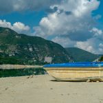 Boat at Lago del Salto, Petrella Salto, Province of Rieti, Italy