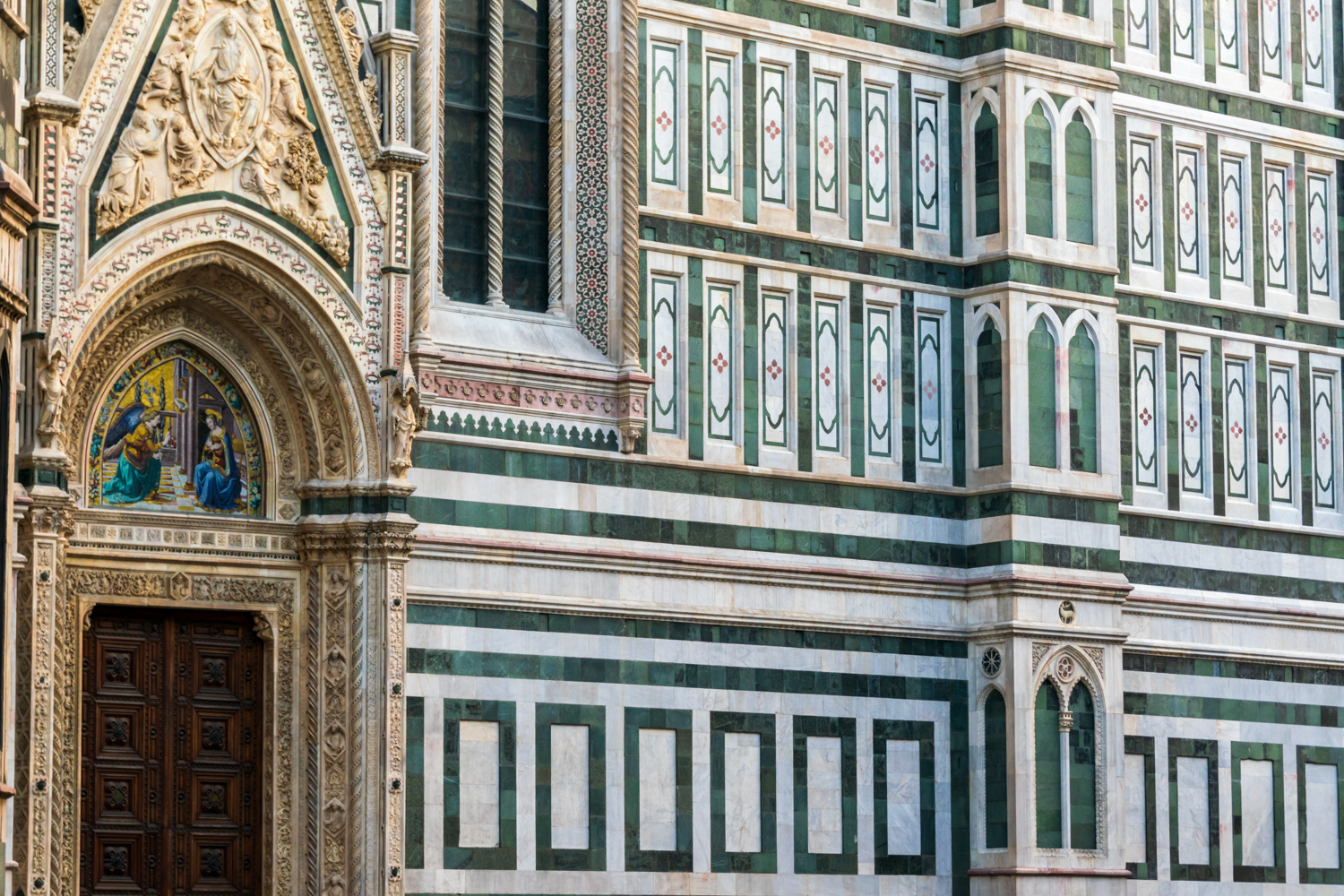 The lateral walls of Cathedral of Santa Maria del Fiore in Florence, Tuscany, Italy